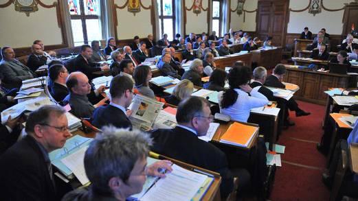 Das war noch in der alten Sitzordnung und im unrenovierten Saal: Der Solothurner Kantonsrat.