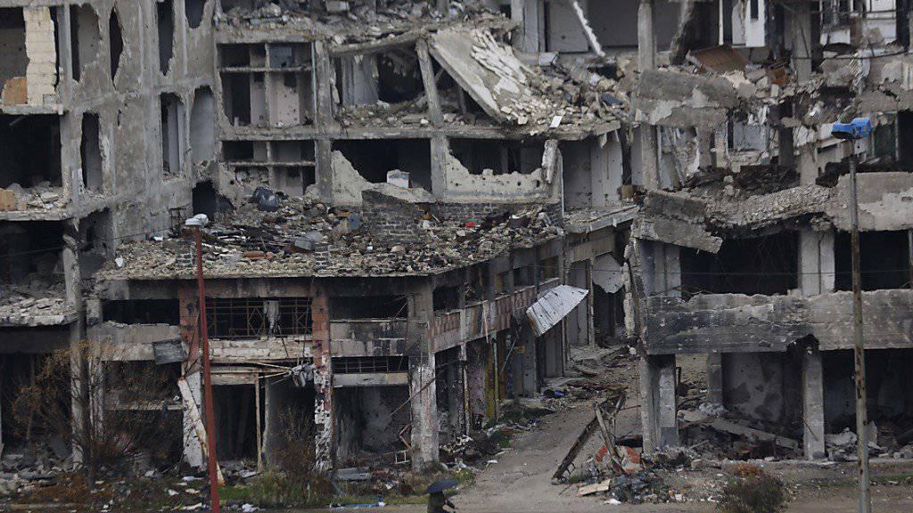 Israel hat in der syrischen Region um Homs erneut Militäreinrichtungen angegriffen. (Symbolbild)