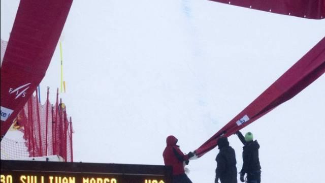 Garstige Wetterbedingungen verunmöglichten in Lake Louise einen zweiten Trainingslauf