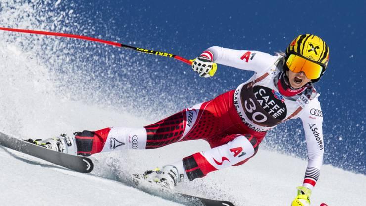 Die Österreicherin Nina Ortlieb stellt im einzigen Training die Bestzeit auf