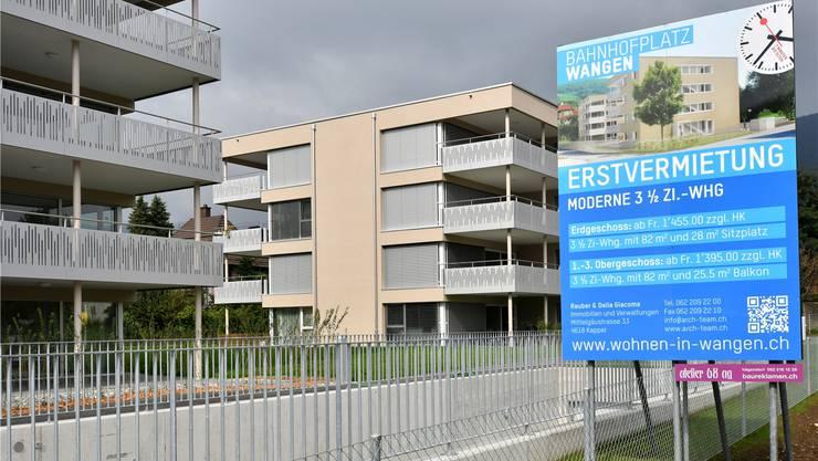 Neubauten würden unter dem alten Berechnungsmodell für Anschlussgebühren Abwasser zu Unrecht am meisten belastet, fand Wangens Souverän. Bruno Kissling