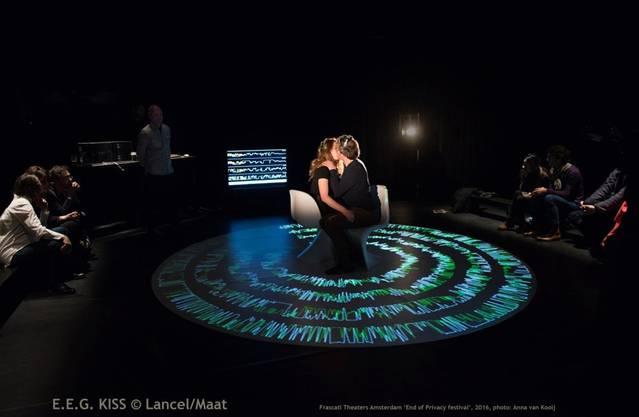 Karen Lancel und Hermen Maat machen Küsse zum Tech-Spektakel.HO