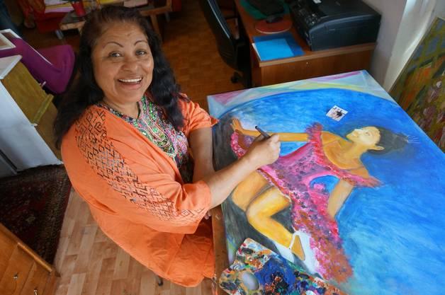 Consuelo Pfister-Dias malt die Tochter einer guten Freundin 3