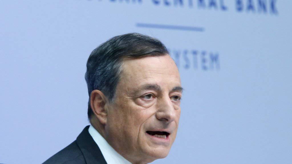 EZB-Chef Mario Draghi leitet das Ende der Geldschwemme ein. Eine Zinserhöhung kommt aber erst 2019. (Archiv)