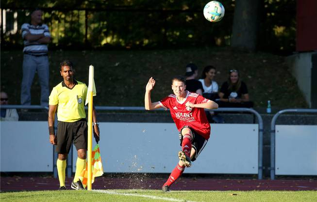 Robin Hänggi (18) spielt heute bei den A-Junioren des SV Muttenz und kommt auch in der 1. Mannschaft der fünfthöchsten Schweizer Liga zu Teileinsätzen.