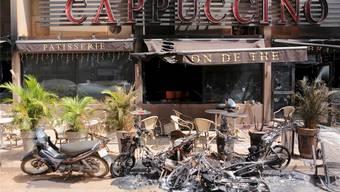 Im Café Cappuccino sassen auch die beiden getöteten Walliser Jean-Noël Rey und Georgie Lamon.