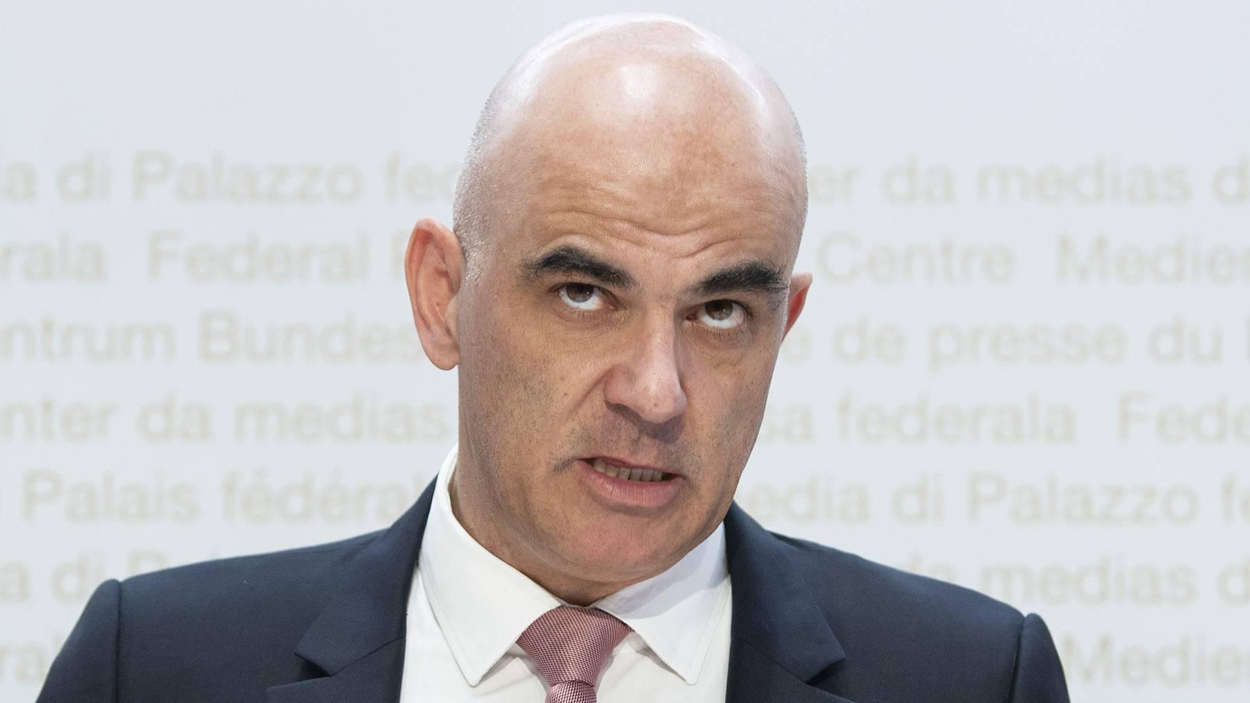 Bundesrat Alain Berset stellte am Mittwoch die Pläne für die neue Reform vor.