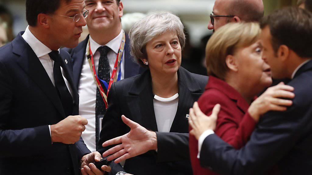 Die britische Premierministerin Theresa May beim EU-Gipfel in Brüssel. (Archivbild)