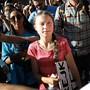 """""""Wir sind eine Welle der Veränderung"""": die schwedische Klimaaktivistin Greta Thunberg in New York."""
