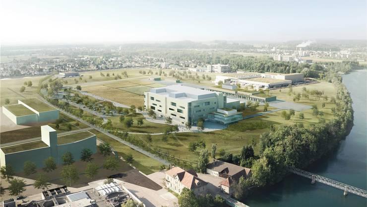 Der Neubau von Biogen in Luterbach soll per Boot erreichbar sein.