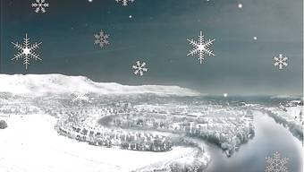 Diese Weihnachtskarte mit einem Bild der verschneiten Wasserstadt verschickte Ivo Bracher.