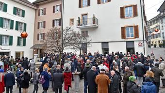 2017 fand der Neujahrsapéro der Stadt erstmals auf dem Kaplaneiplatz statt (im Bild); nun wird dort ein solcher auf Privatinitiative hin lanciert.