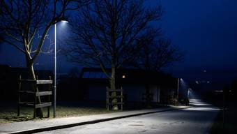 LED-Strassenlampe in Chur.