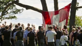 Rechtsextreme am 5. August 2012 auf dem Rütli