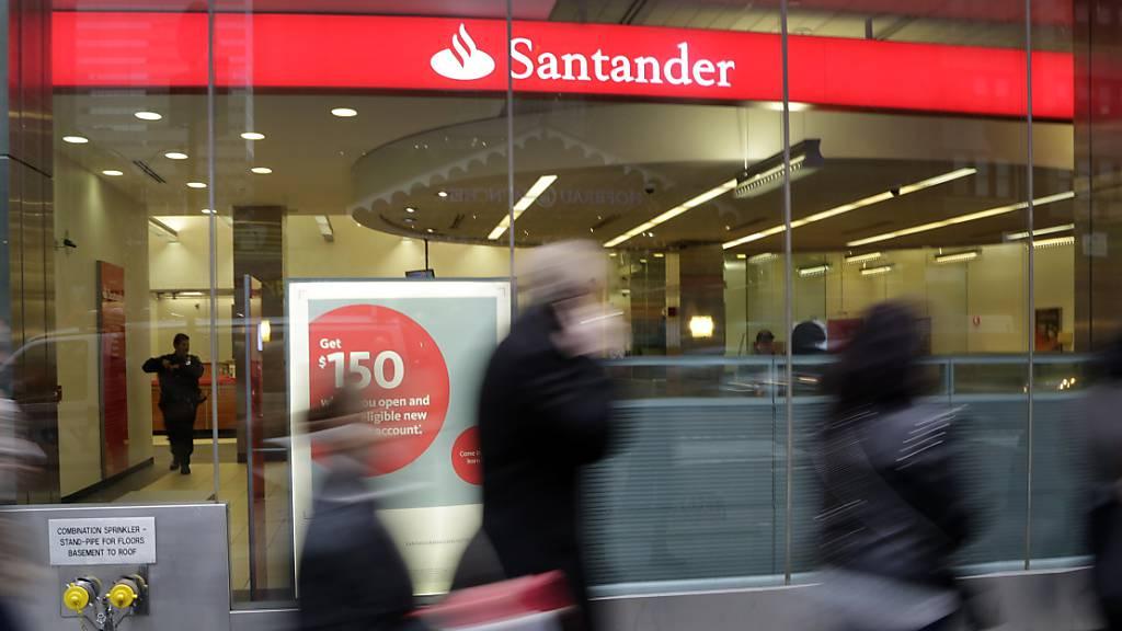 Spanische Grossbank Santander schreibt Milliardenverlust