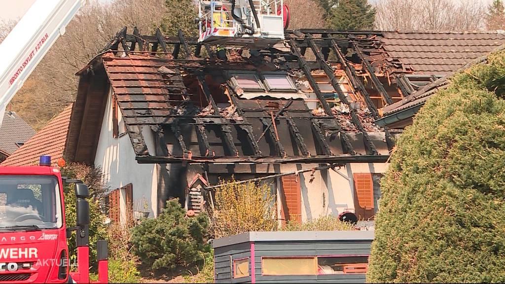 Einfamilienhaus Brand im Oberaargau