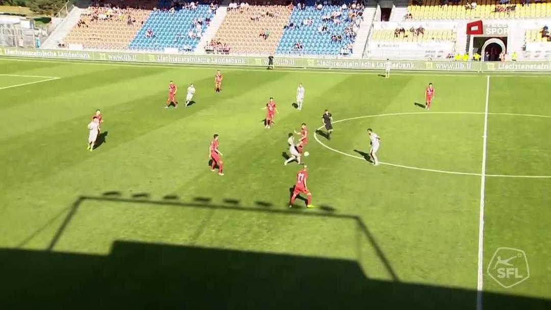 Challenge League 2019/20, 9. Runde: FC Vaduz - FC Aarau, 14. Minute