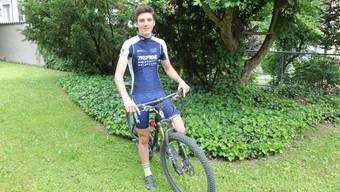 Der Solothurner Nick Burki ist eine grosse Zukunftshoffnung im Mountainbike-Sport