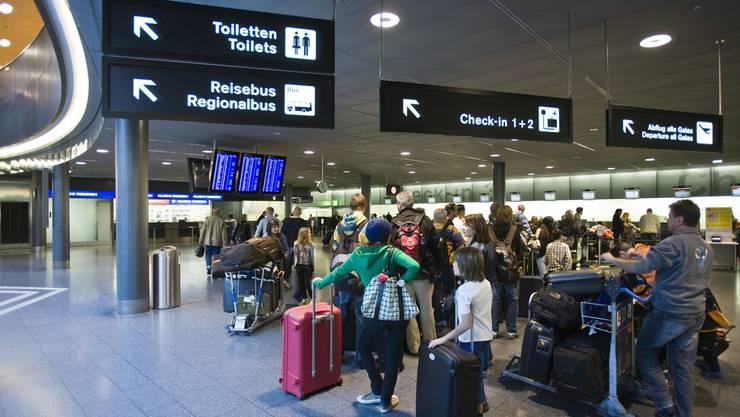Flughafen Zürich: Die Check-In 1 und 2 sind geschlossen. (Symbolbild)