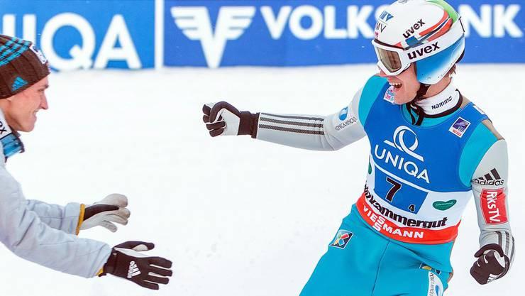 Kennetg Gangnes gewann diese Saison ein Springen und stand fünf Mal auf einem Weltcup-Podest. Dazu kommen noch sechs Podestplätze, davon ein Sieg, von vier anderen norwegischen Skispringern.