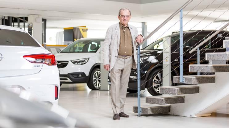 Rolf Germann ist Senior-Inhaber der Garage Germann in Hunzenschwil. Er hat über 40 Jahre lang den Gewerbeverein Hunzenschwil präsidiert.