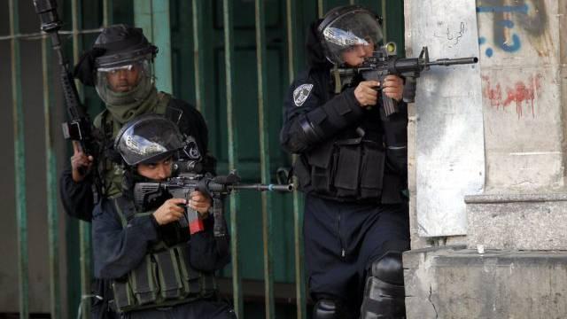 Israelische Sicherheitskräfte im Einsatz bei Hebron (Symbolbild)