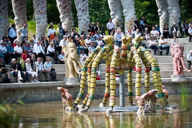 Einweihungsfeier des neuen Wassergartens im Bruno Weber Skulpturenpark