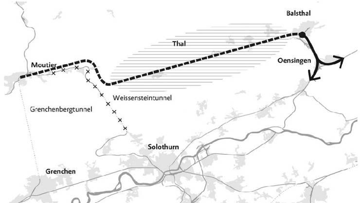 «Hub Balsthal»: Mit einer direkten Bahnlinie bis Balsthal könnte das Thal besser erschlossen werden.