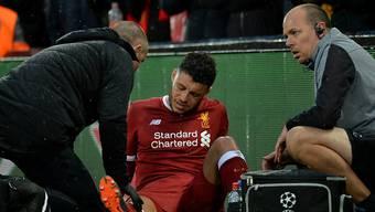 Bereits nach 18 Minuten war Schluss: Liverpools Alex Oxlade-Chamberlain verletzte sich im Halbfinal-Hinspiel der Champions League am Knie