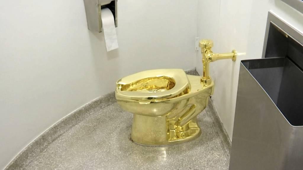 Gestohlen: Eine voll funktionsfähige 18-Karat-Goldtoilette. (Archivbild)