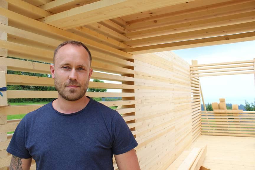 Tobias Funke hat das Pop-Up-Hotel mit auf die Beine gestellt. (Bild: FM1Today / Krisztina Scherrer)