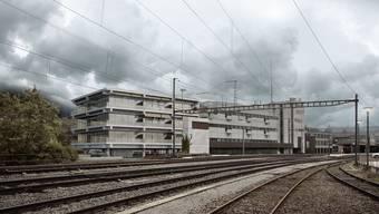 Hier wird nächstes Jahr Lidl einziehen: Eine aktuelle Visualisierung des sanierten Postareals am Bahnhof.