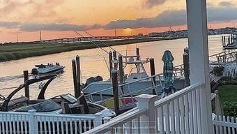 Der digitale Blick auf Avalon in New Jersey, USA.