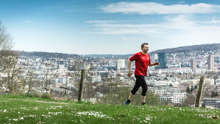 """Vom """"Green Marathon"""" sollen so viele Leute wie möglich profitieren. (Im Bild: Bernhard Guhl, BDP-Nationalrat aus Niederrohrdorf)"""