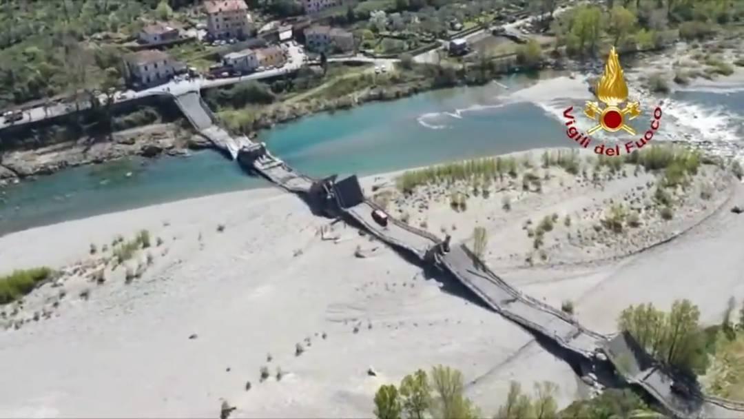 Brücke einer Staatsstrasse in Italien eingestürzt