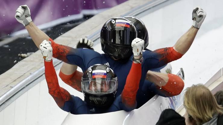 2014 in Sotschi jubelte Trunenkow noch im Subkow-Vierer über die Goldmedaille