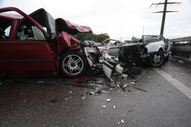 Horror-Crash auf der A6