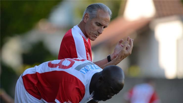 Die Wege von FC-Solothurn-Sportchef «Bidu» Zaugg und Stürmer Garra Dembélé könnten sich bald trennen.