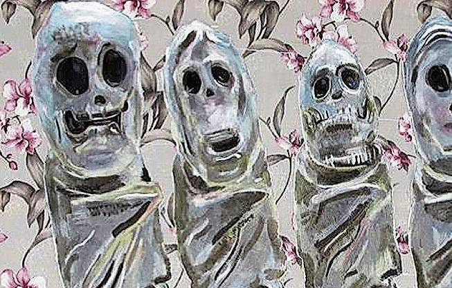 Tom Fellner, «The Laughing Dead», 2019. René Fahrni, «Modelle», 2010.