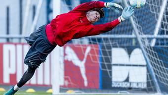 Hoffenheims Schweizer U21-Goalie Gregor Kobel (18) bringt das Selbstbewusstsein mit, um sich mittelfristig im Verdrängungs-Business Bundesliga behaupten zu können