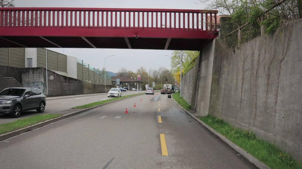 Immer wieder prallen Lastwagen in die Brücke in St.Gallen-Winkeln.