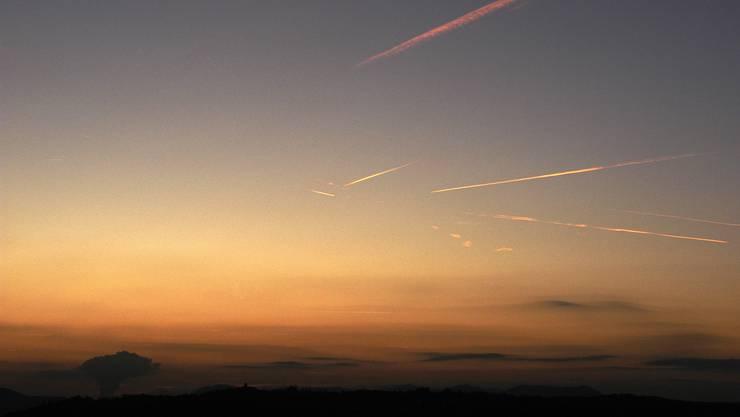 Sonnenuntergang von der Lägern aus gesehen.