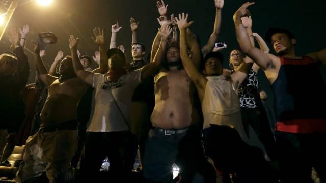 Demonstranten in Ferguson