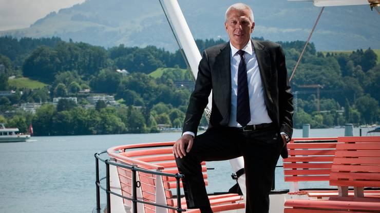 Da war seine Welt noch in Ordnung: Raiffeisenchef Pierin Vincenz im Sommer 2011 in Luzern.