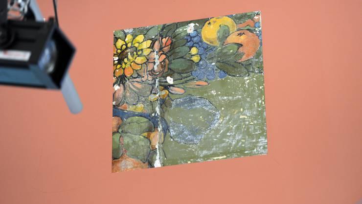 In der Aula kamen frühere Malereien zum Vorschein.