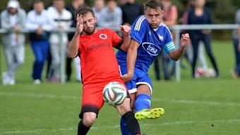 Alban Xhema (rechts im Bild), Captain vom Titelverteidiger FC Bellach.
