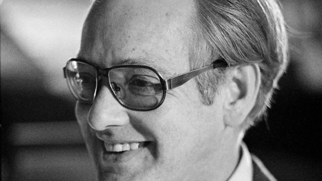 Der Schweizer Schauspieler Fritz Lichtenhahn ist 85-jährig gestorben. Das Foto wurde im Juli 1977 in Zürich aufgenommen. (Archivbild)