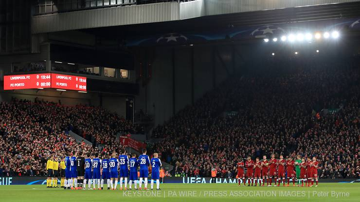 Schweigeminute vor Champions-League-Achtelfinal: Liverpool-Porto