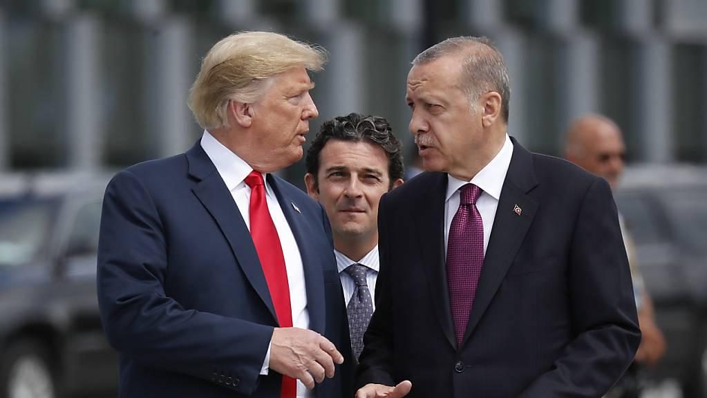 «Seien Sie kein Narr!»: US-Präsident Donald Trump warnte den türkischen Präsidenten Recep Tayyip Erdogan in einem Brief vor einem Einmarsch in Nordsyrien. (Archivbild)