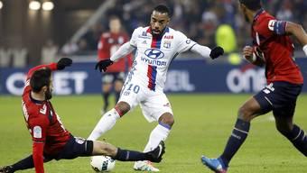 Alexandre Lacazette schoss den einzigen Treffer von Lyon gegen Lille